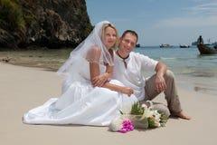 plażowy ślub Zdjęcia Royalty Free