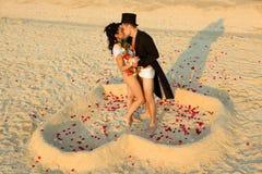 plażowy ślub Obrazy Royalty Free