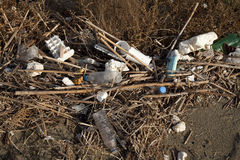 plażowy śmieci Obrazy Stock