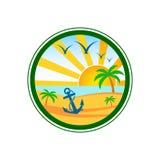 Plażowy Świetlicowy logo Fotografia Royalty Free