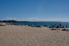 Plażowy życie przy Mokapu plaży parkiem na Hawajskiej wyspie Maui Obraz Stock