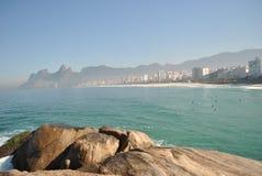 plażowy 3 janeiro De Ipanema Rio s Zdjęcie Royalty Free