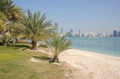 plażowy abu dhabi Obrazy Royalty Free