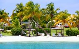plażowy Antigua wyłączność na wywiad stwarzać ognisko domowe nabrzeże obraz stock