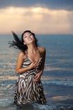 plażowy Azjata piękno Zdjęcia Stock