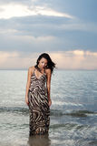 plażowy Azjata piękno Zdjęcie Stock