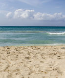 plażowy błękitny denny niebo Obrazy Royalty Free