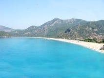 plażowy błękitny laguny oludeniz panoramy indyk Fotografia Stock