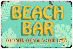 Plażowy bar ilustracji