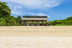Plażowy bar na plaży Obraz Royalty Free