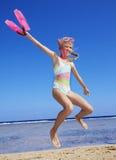 plażowy bawić się dziecka zdjęcia royalty free