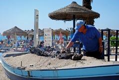 Plażowy BBQ, Fuengirola obrazy royalty free