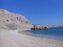 Plażowy Beritnica w wyspie Pag, Dalmatia, region w Chorwacja, Europa obraz stock