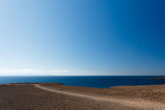 plażowy blanca Lanzarote papagayo playa Spain Obraz Stock