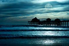 plażowy blask księżyca fotografia stock