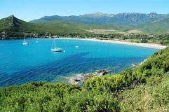 plażowy bussaglia Corsica France Zdjęcie Stock