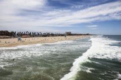 plażowy California Huntington Fotografia Royalty Free