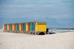 plażowy Capetown mieści Southafrica Fotografia Royalty Free