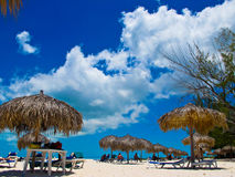 plażowy cayo Cuba largo paraiso playa fotografia stock