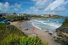 plażowy Cornwall England newquay Zdjęcie Royalty Free