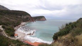Plażowy ` Crvena Glavica ` w Montenegro zbiory wideo