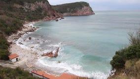 Plażowy ` Crvena Glavica ` w Montenegro zdjęcie wideo