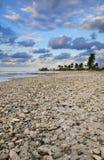 plażowy Cuba sceny zmierzch tropikalny obrazy stock