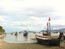 plażowy Danang łodzi rybackich viet nam Obraz Royalty Free