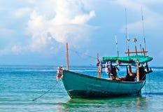 plażowy Danang łodzi rybackich viet nam Zdjęcia Royalty Free