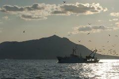 plażowy Danang łodzi rybackich viet nam Zdjęcie Royalty Free
