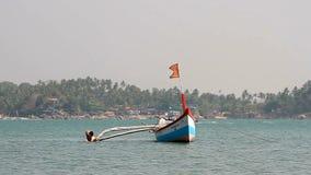 plażowy Danang łodzi rybackich viet nam zbiory wideo