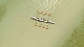 plażowy Danang łodzi rybackich viet nam widok z lotu ptaka Filipiny Anda miasto zdjęcie stock