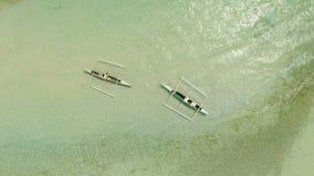plażowy Danang łodzi rybackich viet nam widok z lotu ptaka Filipiny Anda miasto Obrazy Royalty Free