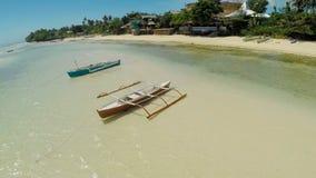 plażowy Danang łodzi rybackich viet nam widok z lotu ptaka Filipiny Anda miasto Fotografia Royalty Free