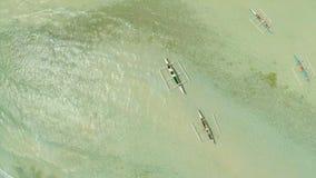 plażowy Danang łodzi rybackich viet nam widok z lotu ptaka Filipiny Anda miasto Zdjęcia Stock