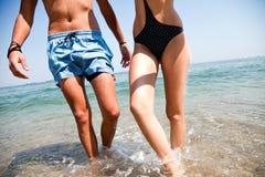 plażowy denny brzeg Zdjęcia Royalty Free