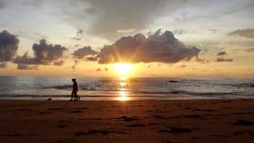 Plażowy denny oceanu zmierzch zbiory