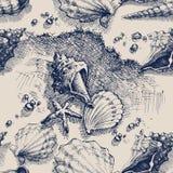 plażowy deseniowy bezszwowy royalty ilustracja
