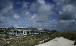 Plażowy dom na Łysej głowy wyspie, Pólnocna Karolina, usa Zdjęcie Royalty Free