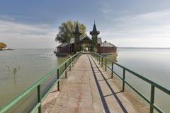 Plażowy dom na jeziornym Balaton, Keszthely, Węgry Obraz Royalty Free