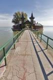 Plażowy dom na jeziornym Balaton, Keszthely, Węgry Obrazy Royalty Free