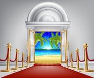 Plażowy drzwiowy pojęcie Obraz Stock
