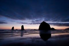 plażowy działo Oregon Obrazy Stock