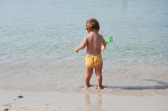 plażowy dzieciak Zdjęcie Royalty Free