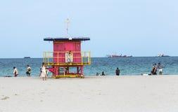 plażowy Florida ratownika Miami południe stojak fotografia royalty free