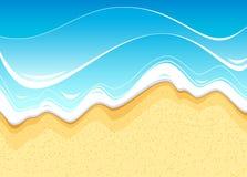 plażowy footpath mola morze royalty ilustracja