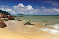 plażowy footpath mola morze zdjęcia stock