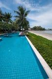 Plażowy frontowy pływacki basen Obraz Royalty Free