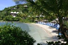 plażowy gorzkiej końcówki kurort sceniczny Fotografia Stock
