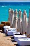 plażowy hotel Zdjęcia Royalty Free